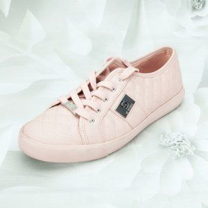 Guess Fashion Cross Stitched Pink Sneakers Shoes
